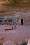 Perfect Kiva in Grand Gulch Primitive Area. This is one of very few intact kivas that allow visitation inside the structure.