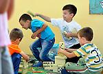 Roma children playing in the Nasa Radost preschool in Smederevo, Serbia.