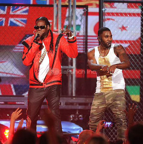 LAS VEGAS, NV - MAY 18: 5 Jason Derulo and 2 Chainz  perform on the 2014 Billboard Music Awards at the MGM Grand Garden Arena on Sunday, May 18, 2014 in Las Vegas, Nevada.PGMicelotta/MediaPunch