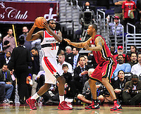 Chris Singleton of the Wizards looks to pass the ball. Washington Wizards defeated the Miami Heat 105-101 at the Verizon Center in Washington, D.C. on Tuesday, December 4, 2012.   Alan P. Santos/DC Sports Box