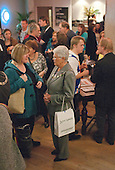 """Mingling in the bar during the interval. Special Olympics Surrey put on a show,   """"Beyond the Stars"""", at the Rose Theatre, Kingston upon Thames to raise money for the  SOGB team.  The Special Olympics are for athletes with learning disabilities."""
