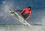 27 September 2007, Hossegor --- Raoni Monteiro of Brazil surfs a wave on his heat against Michel Bourez of Tahiti during the Quiksilver Pro France, which is a part of the Foster's ASP World Tour of Surfing, at Hossegor in the south west coast of France. Photo by Victor Fraile --- Image by © Victor Fraile/Corbis