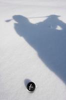 Europe/France/Rhone-Alpes/74/Haute-Savoie/Megève : Golf  sur la neige