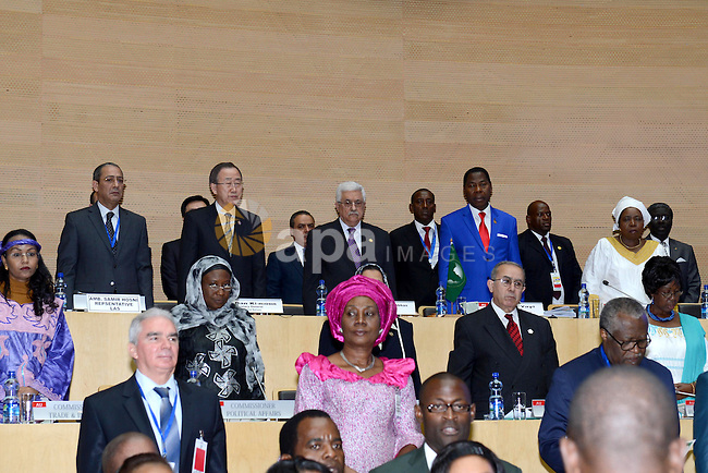 Palestinian President Mahmud Abbas attends the 20th Ordinary Session of The Assembly of the Heads of State and Government (OSOA) of the African Union (UA) in Addis Ababa Ethiopia on January 27, 2013. Photo by Thaer Ganaim