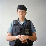 Patrol officer Dayane Alves, 22.<br /> Rapid Response Team<br /> Pacifying Police Unit<br /> Complexo do Caju, Rio de Janeiro, Brazil