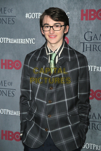 NEW YORK, NY - MARCH 18: Isaac Hempstead Wright at the 'Game Of Thrones' Season 4 New York premiere at Avery Fisher Hall, Lincoln Center on March 18, 2014 in New York City.  <br /> CAP/MPI/RW<br /> &copy;RW/MPI/Capital Pictures
