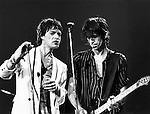 Mick Jagger and Keith Richards of the Rolling Stones at the Palladium theater in 1978
