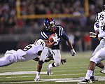 Ole Miss wide receiver Korvic Neat (28) vs. Vanderbilt defensive back Trey Wilson (8) at Vaught-Hemingway Stadium in Oxford, Miss. on Saturday, November 10, 2012.