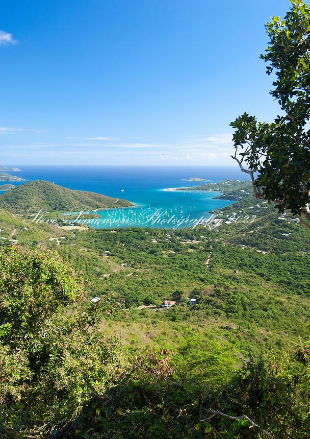 View of Coral Bay .St. John, U.S. Virgin Islands
