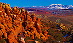The Fiery with the La Sal Mountains in Arches National Park outside Moab, Utah at Sunset.<br /> Jim Urquhart/straylighteffect.com<br /> 03/12/2010