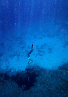 Elisabeth Kristoffersen freediving in a spot called The canyon near Dahab,Sinai in Egypt. © Fredrik Naumann/Felix Features