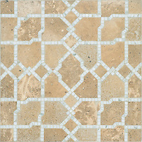 Fasaldo, a natural stone waterjet mosaic shown in honed Lavigne and polished Calacatta. Designed by Paul Schatz for New Ravenna.<br /> <br /> For pricing samples and design help, click here: http://www.newravenna.com/showrooms/<br /> <br /> Get inspired! View our Fasaldo Pinterest board to explore the possibilities of this design: https://www.pinterest.com/newravenna/f-a-s-a-l-d-o/