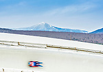5 December 2014: Stepan Fedorov, sliding for Russia, slides through Curve Number 14 on his first run, ending the day with a 10th place finish and a combined 2-run time of 1:43.658 in the Men's Competition at the Viessmann Luge World Cup, at the Olympic Sports Track in Lake Placid, New York, USA. Mandatory Credit: Ed Wolfstein Photo *** RAW (NEF) Image File Available ***