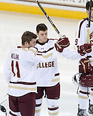 Pat Mullane (BC - 11) (Linell) - The Boston College Eagles and University of New Hampshire Wildcats tied 4-4 on Sunday, February 17, 2013, at Kelley Rink in Conte Forum in Chestnut Hill, Massachusetts.