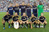 LA Galaxy starting eleven with Clint Mathis as Captain. Real Madrid beat the LA Galaxy 3-2 in an international friendly match at the Rose Bowl in Pasadena, California on Saturday evening August 7, 2010.