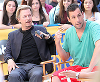 David Spade and Adam Sandler at Good Morning America