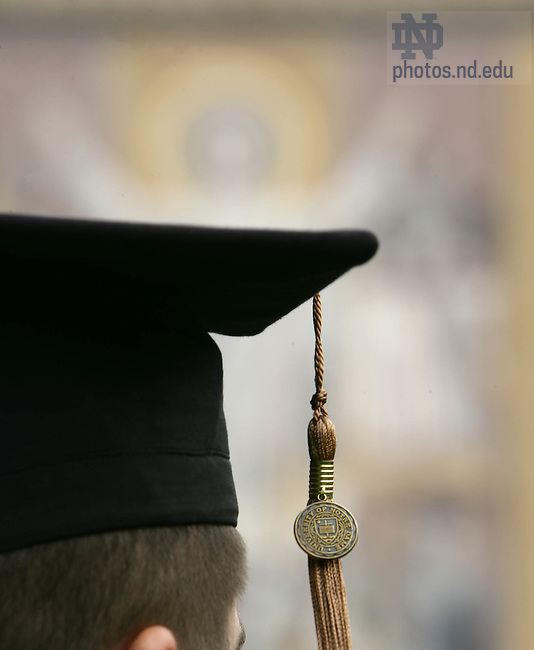 May 20, 2007; Cap and tassel in front of Hesburgh Library..Photo by Matt Cashore..