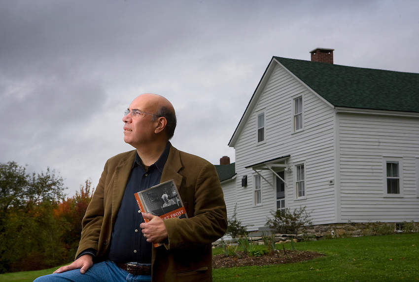 Lafayette College Alumni Jay Parini, who has taught and is consider an expert on poet Robert Frost is seen at the Frost summer home , Homer Noble Farm in Middlebury Vermont
