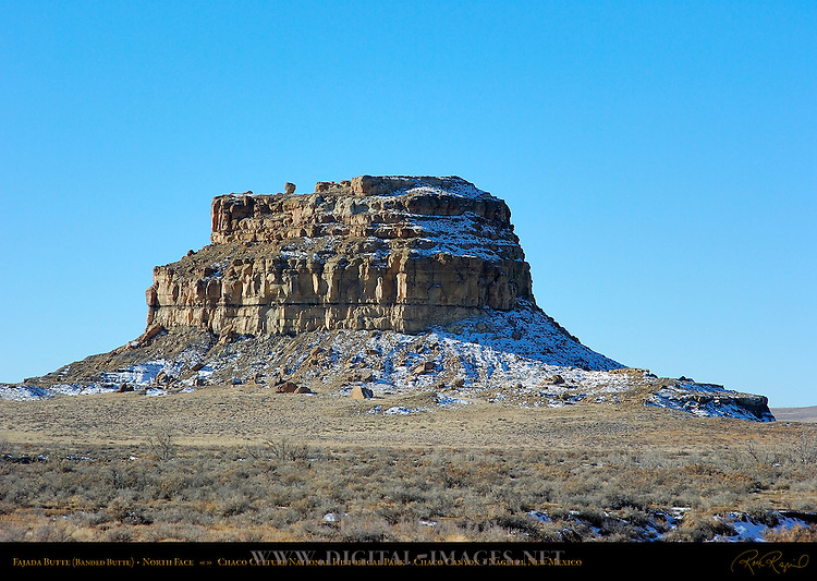 Fajada Butte Banded Butte North Face, Chaco Culture National Historical Park, Chaco Canyon, Nageezi, New Mexico