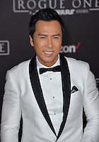Actor Donnie Yen at the world premiere of &quot;Rogue One: A Star Wars Story&quot; at The Pantages Theatre, Hollywood. <br /> December 10, 2016<br /> Picture: Paul Smith/Featureflash/SilverHub 0208 004 5359/ 07711 972644 Editors@silverhubmedia.com