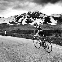 Ascending Passo Giau, in the heart of the Dolomites, Südtirol, Italy.