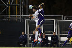 20 November 2014: North Carolina's Walker Hume (left) and James Madison's Connor Coward (right). The University of North Carolina Tar Heels hosted the James Madison University Dukes at Fetzer Field in Chapel Hill, NC in a 2014 NCAA Division I Men's Soccer Tournament First Round match. UNC won the game 6-0.