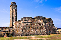 The fort clock  tower would have been the last line of defense if the fort was ever attacked. (Photo by Matt Considine - Images of Asia Collection)