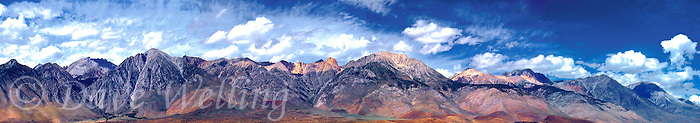 920000002 A panoramic view of clouds over the Eastern Sierras near Olancha, California.