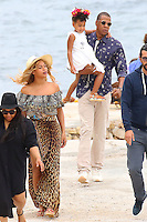 Beyonce, Jay Z , their daughter Blue Ivy & friends are visiting Sainte Marguerite island - France