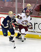 Ryan Thang (Notre Dame - 9), Tim Kunes (Boston College - 6), Ben Ryan (Notre Dame - 19) - The University of Notre Dame Fighting Irish defeated the Boston College Eagles 4-1 on Friday, November 7, 2008, at Conte Forum in Chestnut Hill, Massachusetts.