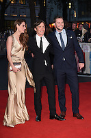 LONDON, UK. October 16, 2016: Madeline Mulqueen, Cillian Murphy &amp; Jack Reynor at the London Film Festival 2016 premiere of &quot;Free Fire&quot; at the Odeon Leicester Square, London.<br /> Picture: Steve Vas/Featureflash/SilverHub 0208 004 5359/ 07711 972644 Editors@silverhubmedia.com