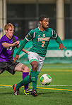 19 October 2013: University of Vermont Catamount Forward Brian Wright, a Freshman from Ajax, Ontario, in action against the University at Albany Great Danes at Virtue Field in Burlington, Vermont. The Catamounts defeated the visiting Danes 2-1. Mandatory Credit: Ed Wolfstein Photo *** RAW (NEF) Image File Available ***