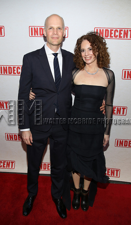 Rebecca Taichman with her husband attends the Broadway Opening Night Performance of  'Indecent' at The Cort Theatre on April 18, 2017 in New York City.