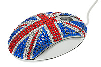 Union Jack Designed Computer Mouse
