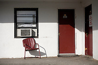 An exterior view of Motel Caswell in Tewksbury, Massachusetts, USA, on Tuesday, Oct. 11, 2011. The motel is owned by Russell Caswell. Caswell's father built the motel in the 1950s. Now, conservative activitists are trying to use federal asset-forfeiture laws to seize the motel, saying that the motel is used by drug dealers to conduct business.  The legal challenge intends to show evidence tying the property to crimes in order to seize the motel....CREDIT: M. Scott Brauer for the Wall Street Journal.slug: FORFEIT