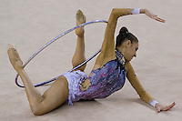 Evgenia Kanaeva (RUS) performs with the hoop during the final of the 2nd Garantiqa Rythmic Gymnastics World Cup held in Debrecen, Hungary. Sunday, 07. March 2010. ATTILA VOLGYI