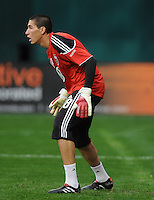 DC United golkeeper Andrew Quinn (48). New England Revolution defeated DC United 2-0,  at  RFK Stadium, Saturday April 3, 2010.