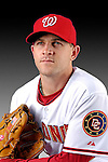 25 February 2007: Washington Nationals pitcher Josh Hall poses for his Photo Day portrait at Space Coast Stadium in Viera, Florida.<br /> <br /> Mandatory Photo Credit: Ed Wolfstein Photo<br /> <br /> Note: This image is available in a RAW (NEF) File Format - contact Photographer.