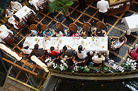 Singapore. Marina Bay Sands. A restaurant at the Shopping Mall.