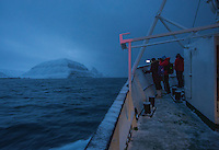 A tourist boat sailing along the Svalbard coast.<br /> <br /> Norway&rsquo;s polar bear population lives in and around Svalbard. Any global warming will affect the around 3000 polar bears in the area. <br /> <br /> <br /> Svalbard (formerly known by its Dutch name Spitsbergen) is a Norwegian archipelago in the Arctic Ocean. Situated north of mainland Europe, it is about midway between continental Norway and the North Pole. <br /> <br /> <br /> (photo: Fredrik Naumann/Felix Features)