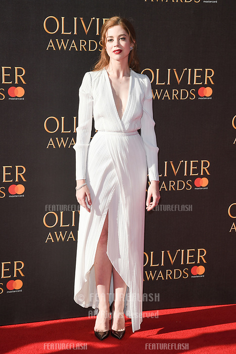 Charlotte Hope at The Olivier Awards 2017 at the Royal Albert Hall, London, UK. <br /> 09 April  2017<br /> Picture: Steve Vas/Featureflash/SilverHub 0208 004 5359 sales@silverhubmedia.com