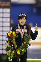 SPEEDSKATING: CALGARY: Olympic Oval, 26-02-2017, ISU World Sprint Championships, Overall Podium Ladies, World Champion Nao Kodaira (JPN), ©photo Martin de Jong