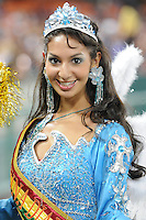 Bolivian Beauty from the Diablada Dance performing at half time.  San Jose Earthquakes defeated DC United 2-0 at RFK Stadium, October 9, 2010.