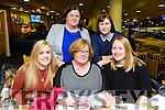 Hannahs House Montessori Nursery School, Presentation Primary School,  Tralee, Staff night out at Kingdom Greyhound Stadium on Friday Front  L-r Sarah Murray, Liz Coleman, Isabel  Pupke Back l-r Jacenta  O'Mahony and Ann McGowan