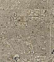 historical aerial photograph Anaheim, California, 1995