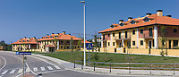 New housing estate a sign of economic development at Comillas in Cantabria, Northern Spain
