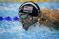 Olympic star Michael Phelps gets silver at the men's 100m butterfly during Rio2016.  Photo by Andre Camara<br /> Rio de Janeiro, Brazil on August 13, 2016.<br /> CAP/CAM<br /> &copy;Andre Camara/Capital Pictures /MediaPunch ***NORTH AND SOUTH AMERICAS ONLY***