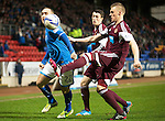 St Johnstone v Hearts.....18.01.14   SPFL<br /> Lee Croft and Kevin McHattie<br /> Picture by Graeme Hart.<br /> Copyright Perthshire Picture Agency<br /> Tel: 01738 623350  Mobile: 07990 594431