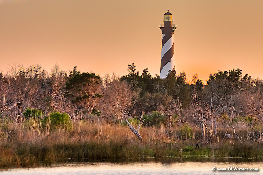Cape Hatteras Lighthouse On Hatteras Island At Sunrise Photos Of The Outer Banks