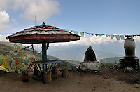 A Bhutanese resting place at Chelela, the highest point of Dantak roads. Arindam Mukherjee..